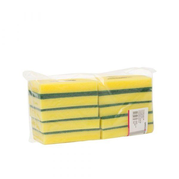 _S8A1572- debi- schuurspons wecoline geel/groen 15x9x3cm